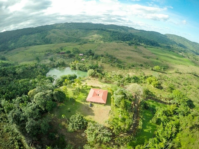 Livestock farm and forest conservation. In San Ramon de Alajuela. J