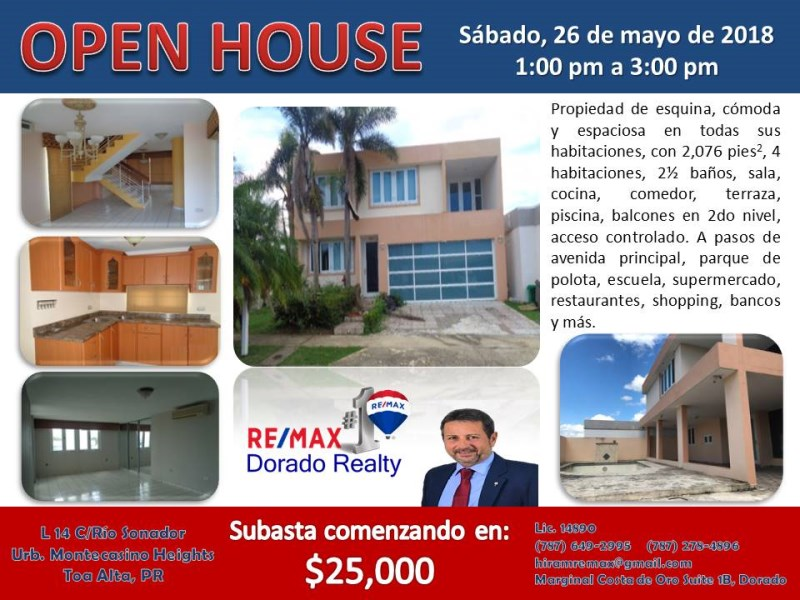 RE/MAX real estate, Puerto Rico, URB Montecasino Hts, Montecasino Heights, Toa Alta