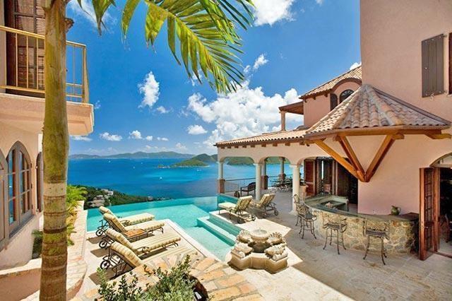 RE/MAX real estate, US Virgin Islands, Peter Bay, Villa Carlota, Overlooks the Beautiful Caribbean Sea (MLS#17-234)