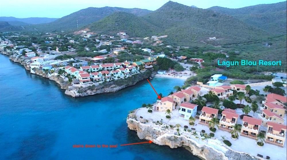 RE/MAX real estate, Curacao, Westpunt, Lagun Blou - 2 bedroom condo sea view close to beach, 10.5% ROI