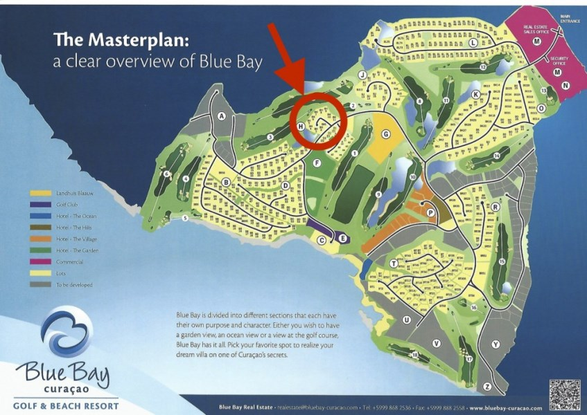 RE/MAX real estate, Curacao, Blue Bay Golf & Beach Resort, Lot for real estate development for sale on golf course BlueBay Resort