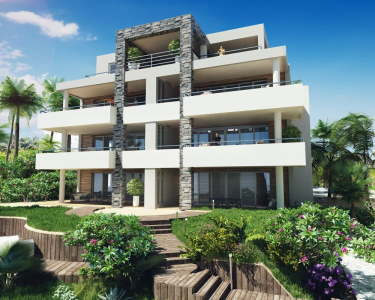 RE/MAX real estate, Curacao, Blue Bay, NEW beach front apartment - on gated golf resort with private beach