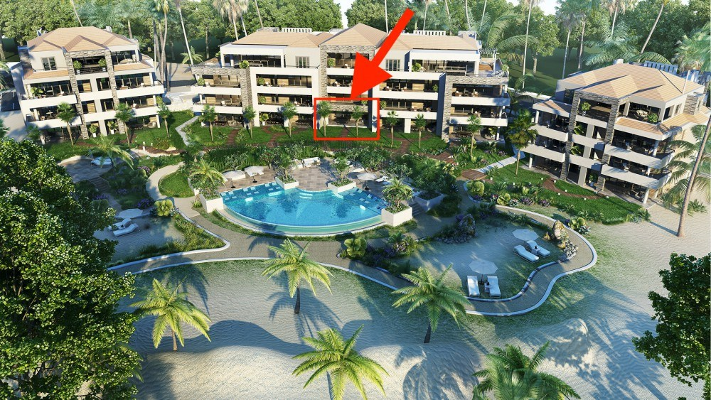 RE/MAX real estate, Curacao, Blue Bay, The Shore - new 2-bedroom condo on white sandy beach with pool & golf