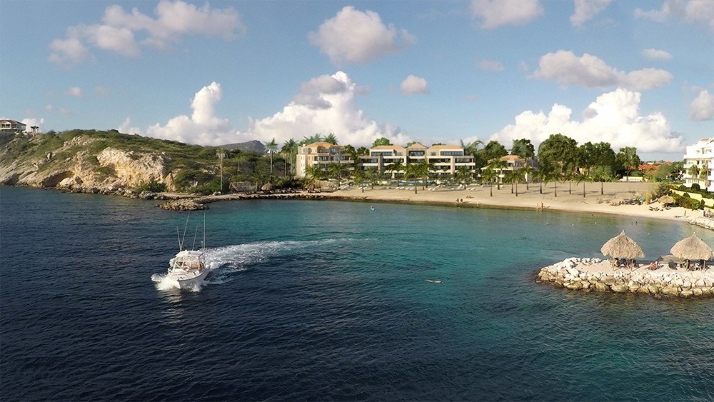 RE/MAX real estate, Curacao, Blue Bay Golf & Beach Resort, New luxury beach apartments with pool on beach at Blue Bay Resort
