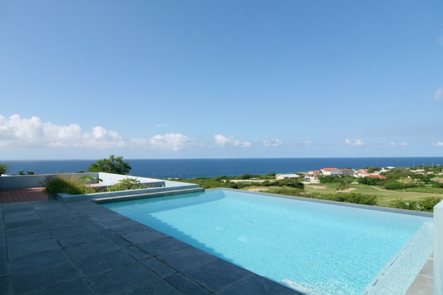 RE/MAX real estate, Curacao, Blue Bay Golf & Beach Resort, Blue Bay Resort Curacao: dream home (rented) - golf course & sea view