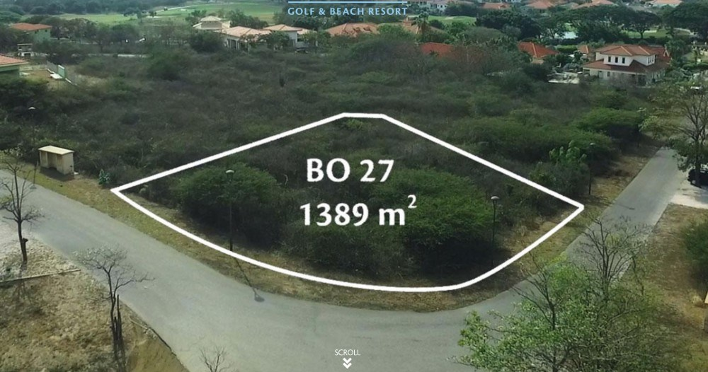 RE/MAX real estate, Curacao, Blue Bay, Blue Bay: corner lot for sale in gated community with beach and golf