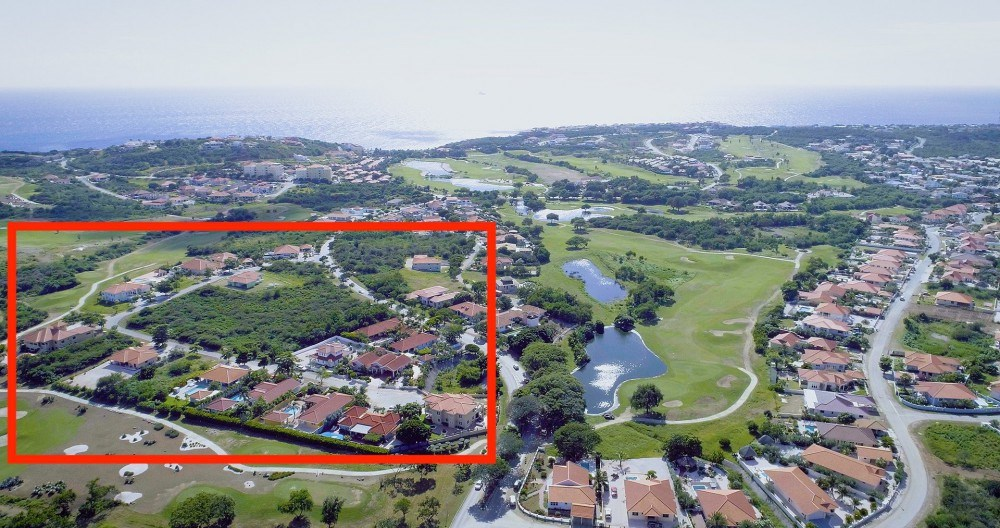 RE/MAX real estate, Curacao, Blue Bay Golf & Beach Resort, Blue Bay BO26A  spacious lot close to resort entrance -gated community