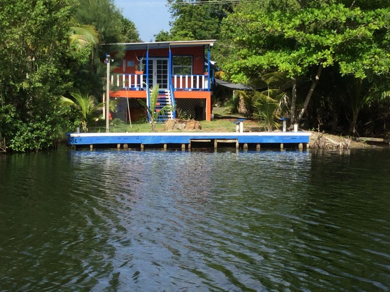 Remax real estate, Belize, Punta Placencia, 3 Bedroom 2 Bathroom Newly Remodeled House on Water Across from Los Porticos in Village