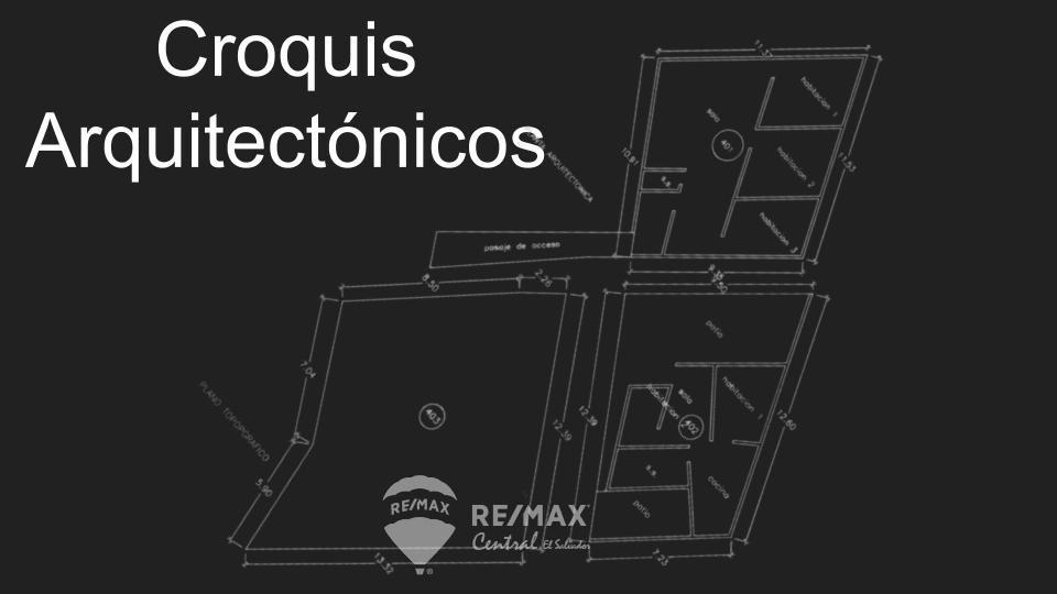 Remax real estate, El Salvador, San Salvador, 3 lots (2 with buildings) Quintas Cader??