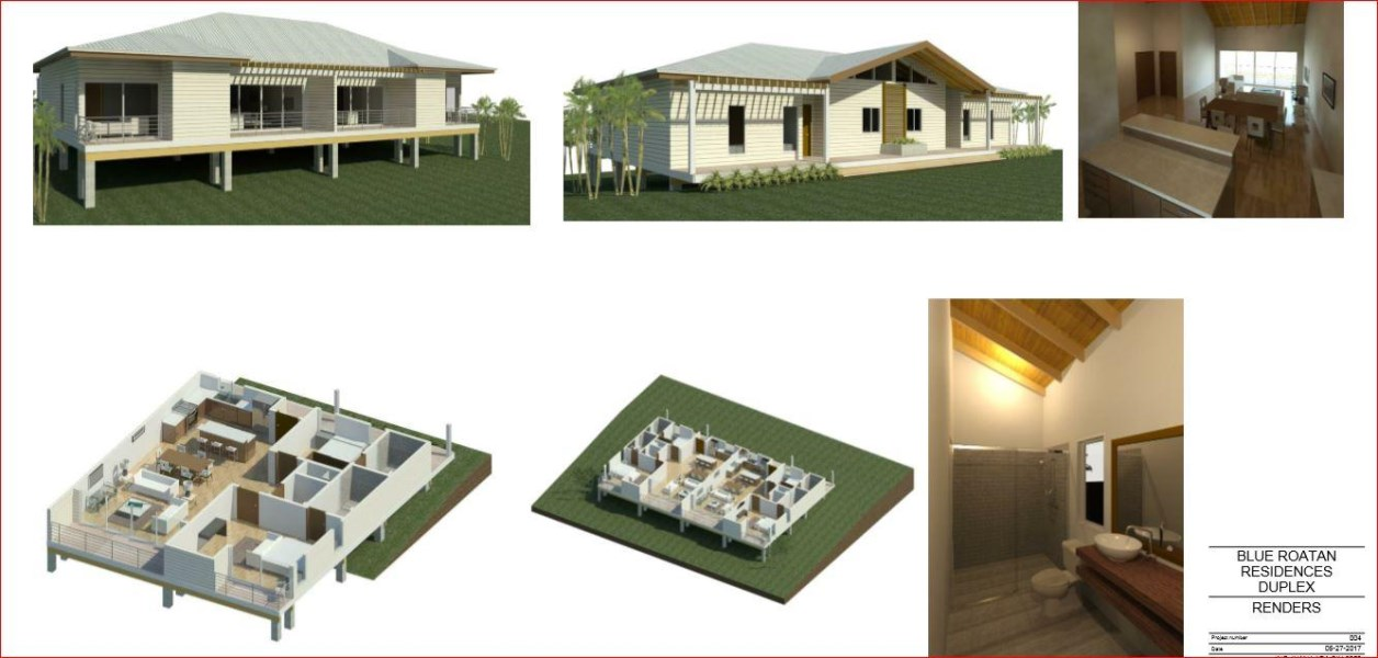 Remax real estate, Honduras, Roatan, 2 12 bath Villa West BayBlue Roatan  2 bedroom