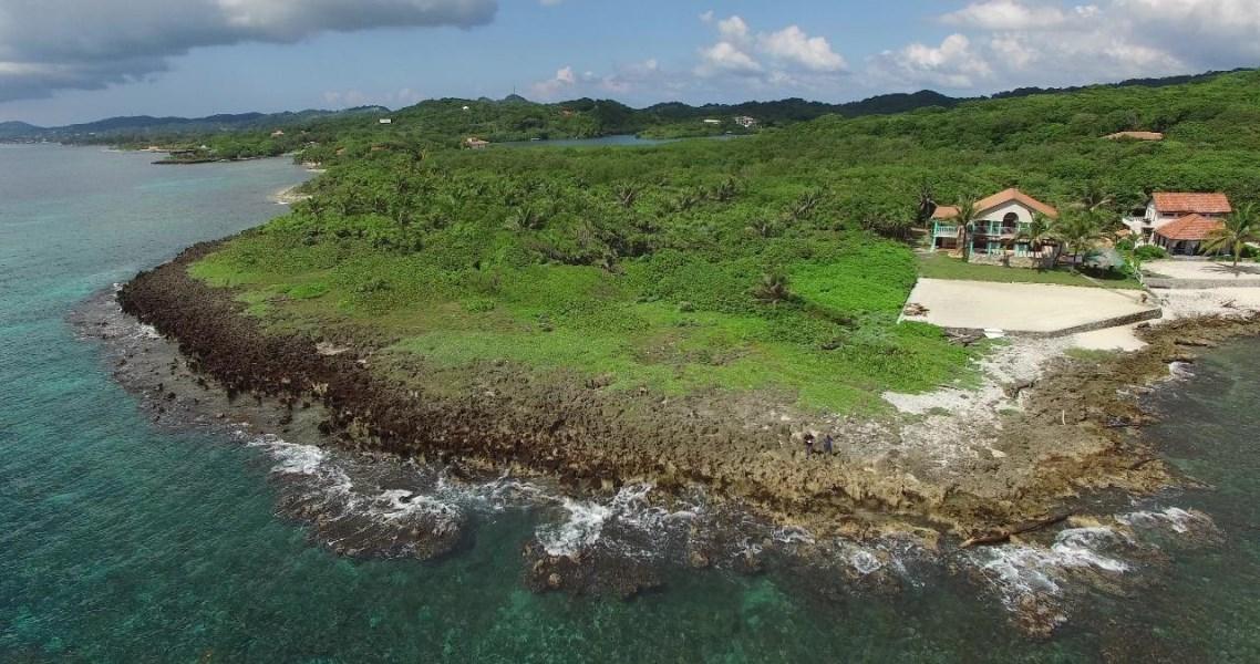 Remax real estate, Honduras, Roatan, .74 acre Lot 305Parrot Tree Ocean Front Land