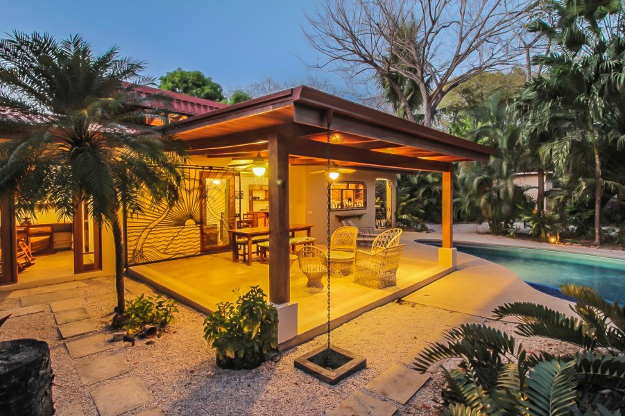 Remax real estate, Costa Rica, Nosara, Casa Las Palmas Inclinadas-Walled Compound Steps to the Beach in Most Desirable G section - Guiones North - SOLD