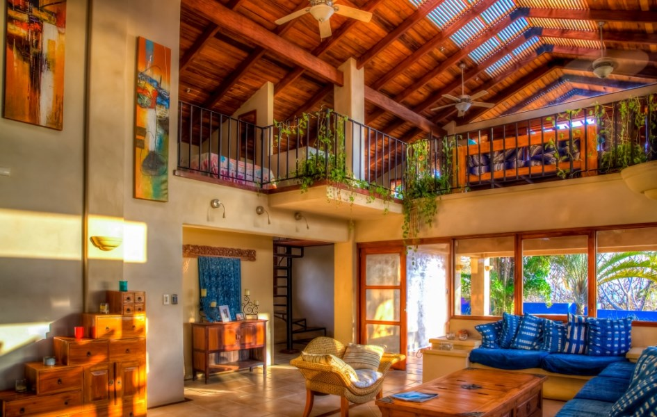 Remax real estate, Costa Rica, Nosara, Casa Caracoles - Large Ocean View Home and Guesthouse with a One of a Kind Pool and Expansive Yards in E Section