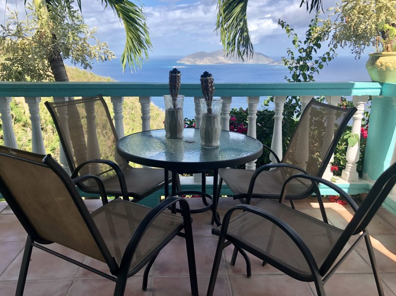 RE/MAX real estate, British Virgin Islands, Cane Garden Bay, **rented** Secluded sea view 2 bed 2 bath fully furnished apartment in luck hill