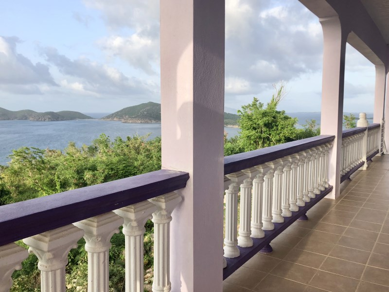 RE/MAX real estate, British Virgin Islands, Beef Island, **rented no longer available** Spacious sea view 2 bed 1 bath with wrap around balcony in Hawks Nest, East End available 1st Aug