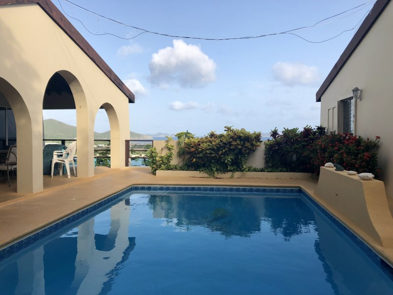 RE/MAX real estate, British Virgin Islands, Beef Island, **rented no longer available** Mermaid Villa 2 bed 1 bath Beef Island Villa with pool