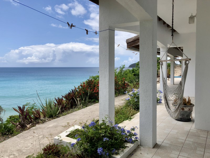 RE/MAX real estate, British Virgin Islands, Lambert Beach, **Rented** Own staircases to the beach! Pet friendly 4 bed beachfront villa in Lambert Resort