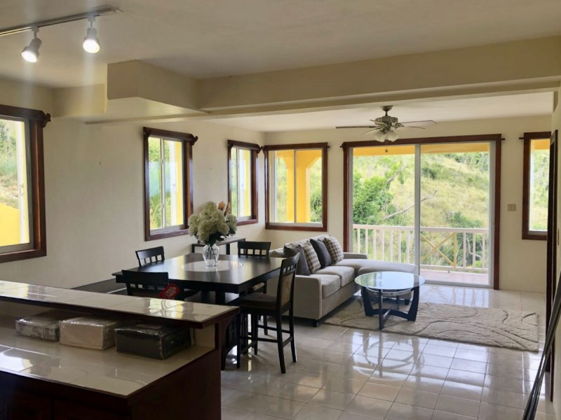 RE/MAX real estate, British Virgin Islands, Trunk Bay, **rented no longer available** Brand new furnished spilt level 2 bed 2.5 bath townhouse with shared pool in Fahie Hill available