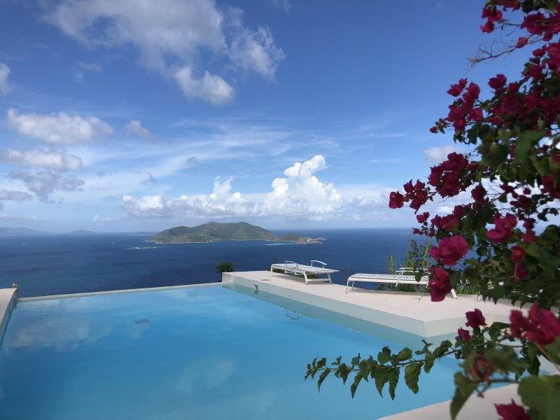 RE/MAX real estate, British Virgin Islands, Brewers bay, **rented no longer available** Caribbean luxury, 3 bedroom cottage with infinity pool available Nov 1
