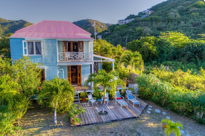 RE/MAX real estate, British Virgin Islands, Sea Cows Bay, Waterfront tropical cottage for sale close to town