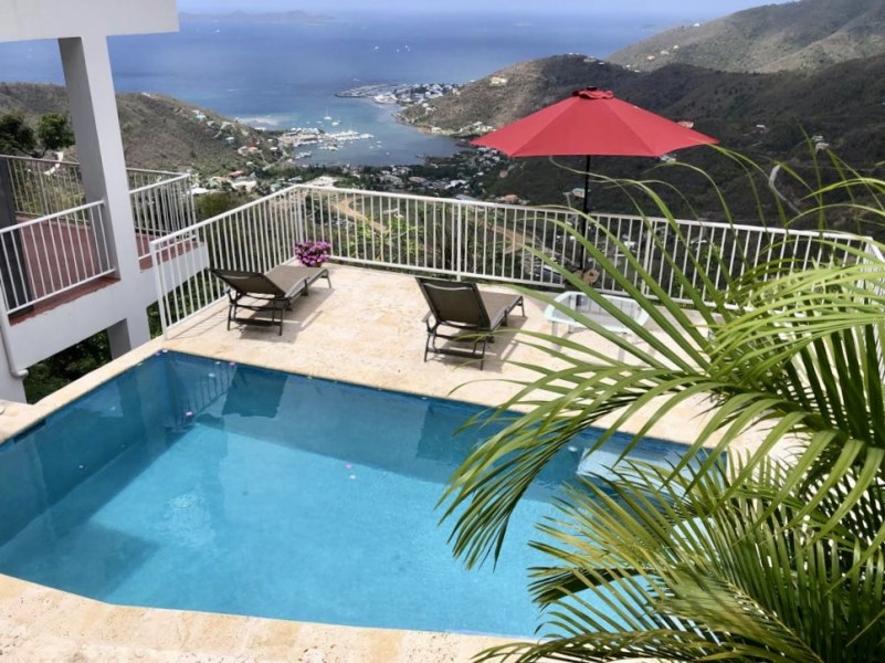 RE/MAX real estate, British Virgin Islands, Road Town, Move in ready modern and sleek executive two bed two bath unit above town with pool