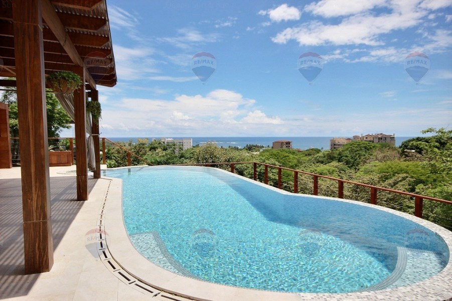 Remax real estate, Costa Rica, Tamarindo, Casa Sunset ~ brand new ocean view jewel on the hills of Tamarindo!