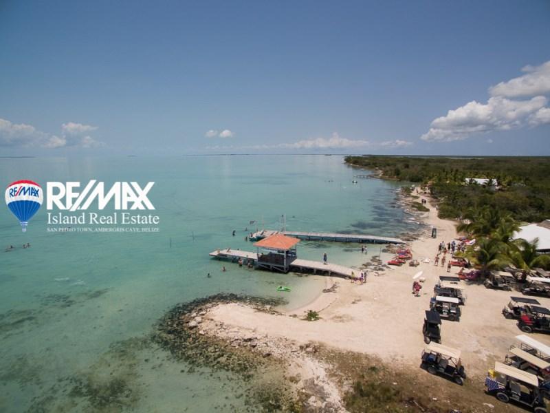 Remax real estate, Belize, San Pedro, Secret Beach Waterfront Lot