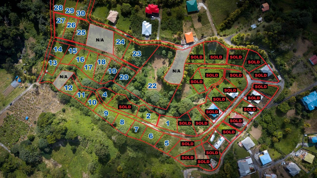 RE/MAX real estate, St. Vincent & Grenadines, Mesopotamia, CANE END RESIDENTIAL LOT#5