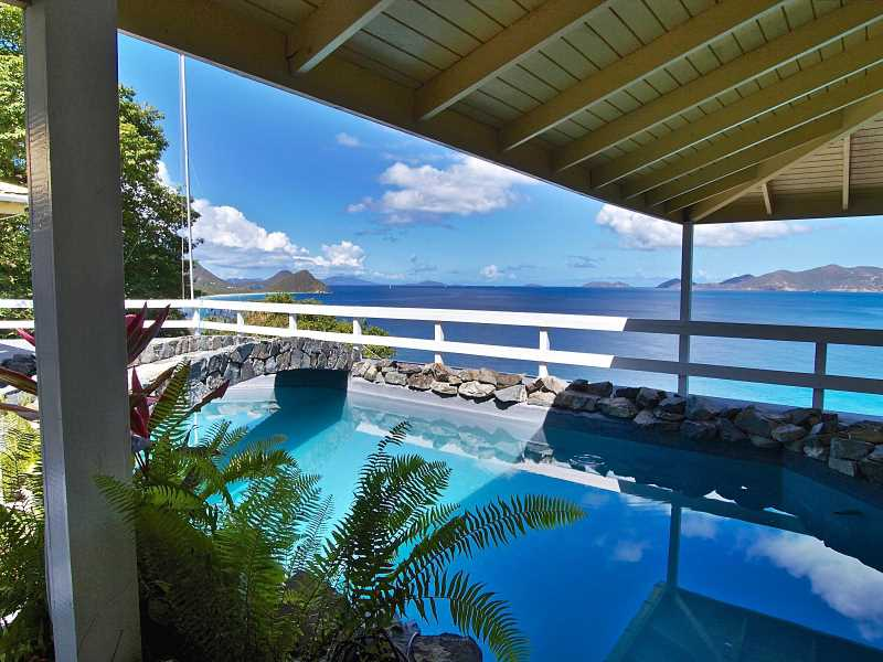 RE/MAX real estate, British Virgin Islands, Pomento Point, HS-670 Secluded Apple Bay Home with Great Water Views