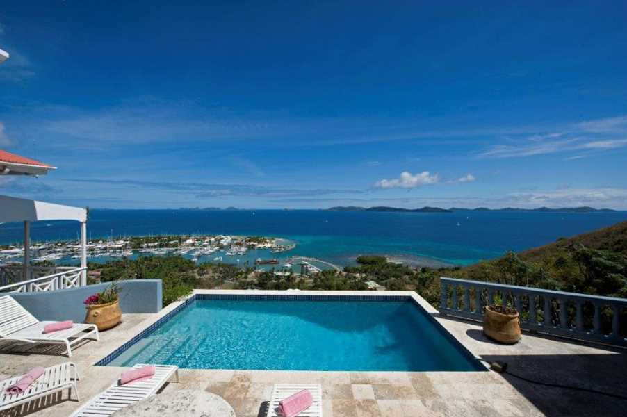 RE/MAX real estate, British Virgin Islands, Nanny Cay, Marina & Sea Views! 4-br Villa w/ Pool, Nanny Cay [HS-731]
