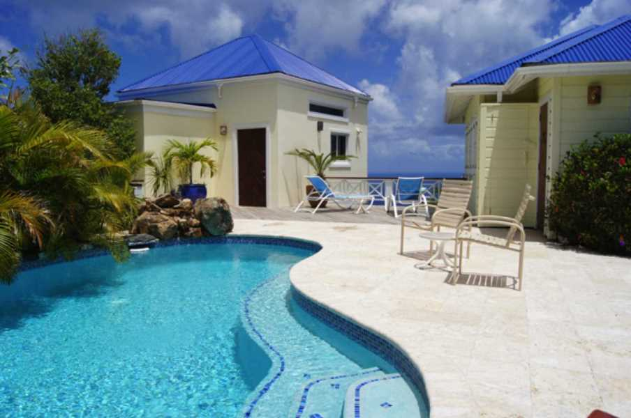RE/MAX real estate, British Virgin Islands, Cane Garden Bay, Hilltop Villa w/ Spectacular Views + Guest Cottage [HS-566]