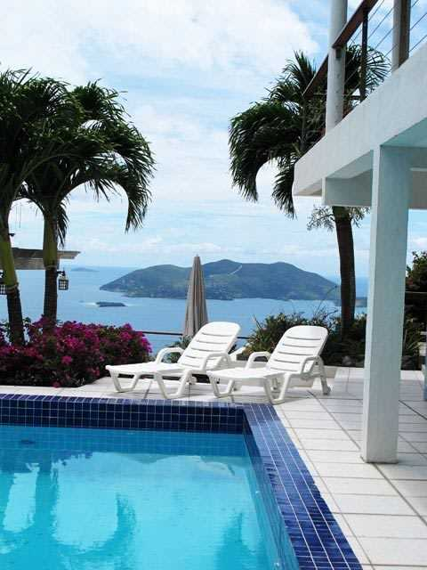 RE/MAX real estate, British Virgin Islands, Cane Garden Bay, High-end, High-tech Villa w/ Pool, Views [HS-334]
