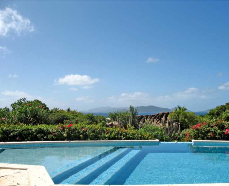 RE/MAX real estate, British Virgin Islands, North Sound, Elegant Estate w/ 5 Cottages, Views, Tennis Court [HS-207]
