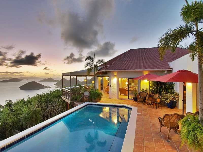 RE/MAX real estate, British Virgin Islands, West End, Fabulous Villa w/ Rental Income & 280-degree Views [HS-890]