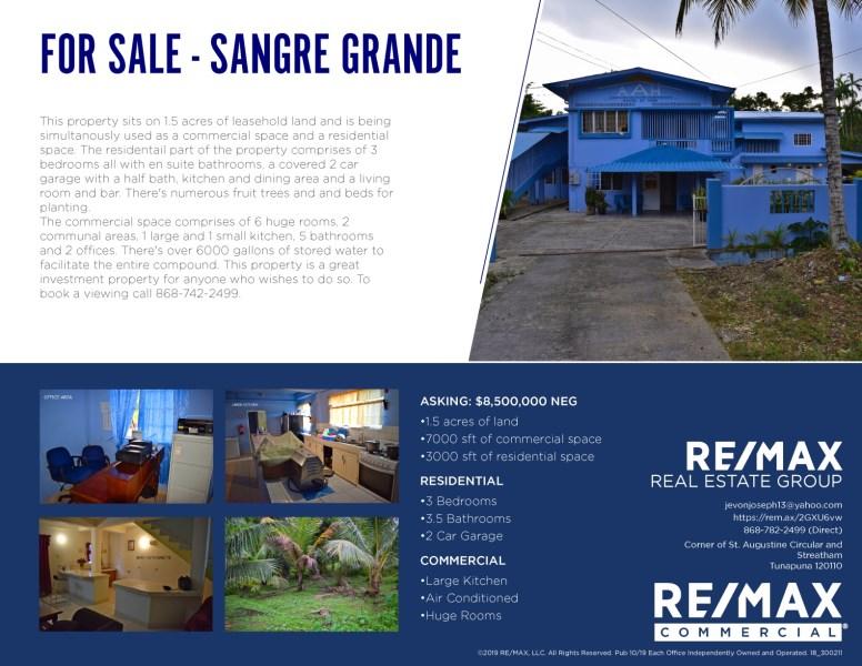 RE/MAX real estate, Trinidad and Tobago, Sangre Grande, ELDERLY HOME