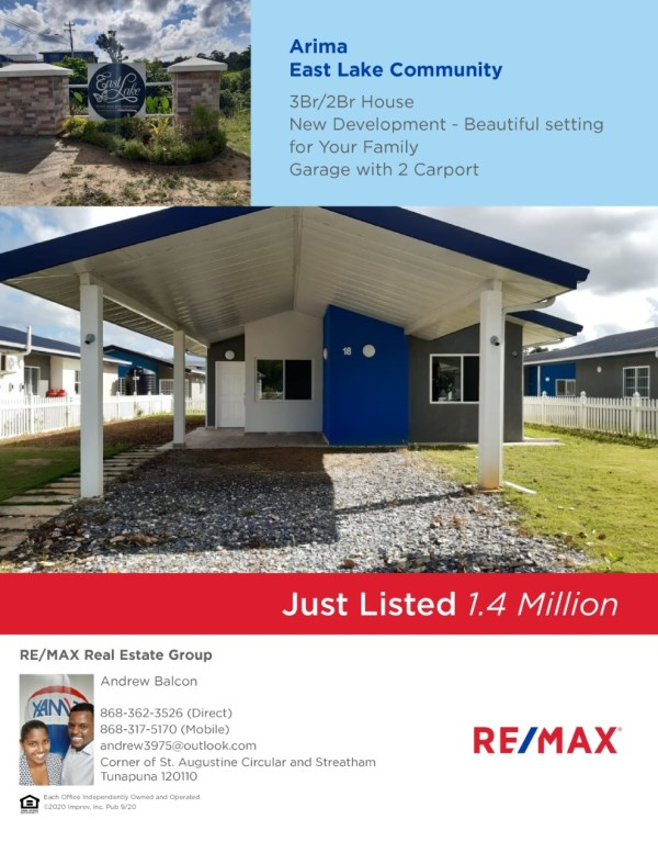 RE/MAX real estate, Trinidad and Tobago, Arima, House for Sale - East Lake