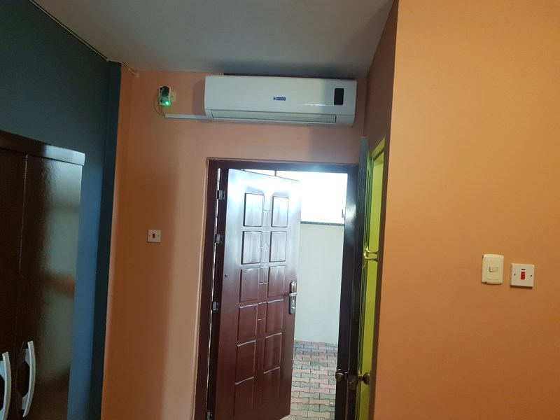 RE/MAX real estate, Trinidad and Tobago, Petit Bourg, 1 Bedroom Mt Hope Rental: A/C, utilities, electronic gate, parking, flat-screen TV, Internet and cable, washroom area