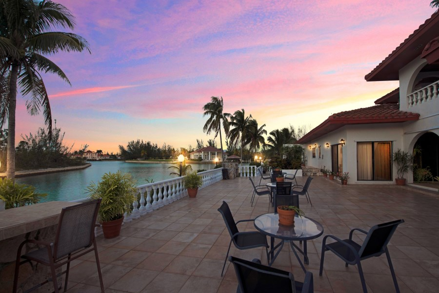 RE/MAX real estate, Bahamas, Freeport, VILLA BETTA- A  MEDITERRANEAN STYLE  WATERFRONT ESTATE