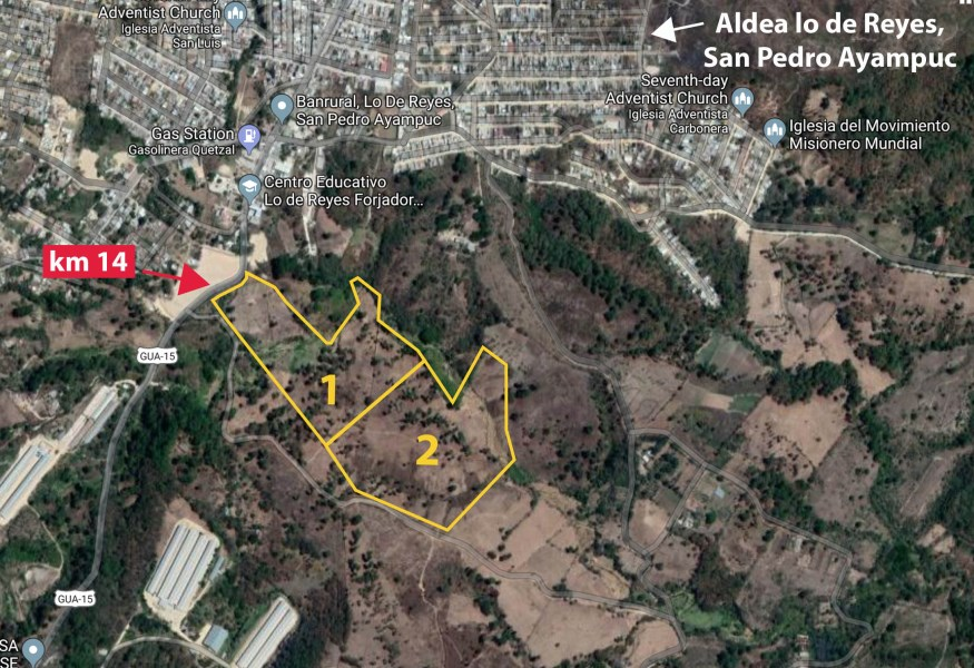 Remax real estate, Guatemala, San Pedro Ayampuc, Terreno en VENTA, 22 manzanas, carretera a San Pedro Ayampuc