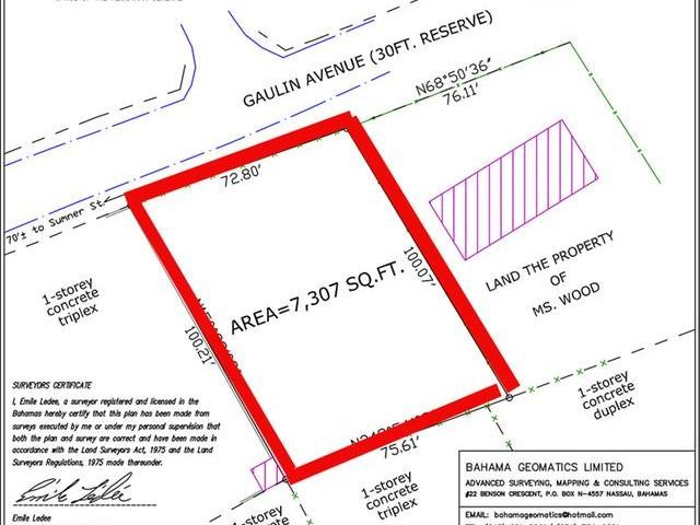 RE/MAX real estate, Bahamas, Nassau, M-F LOT SOLDIER ROAD