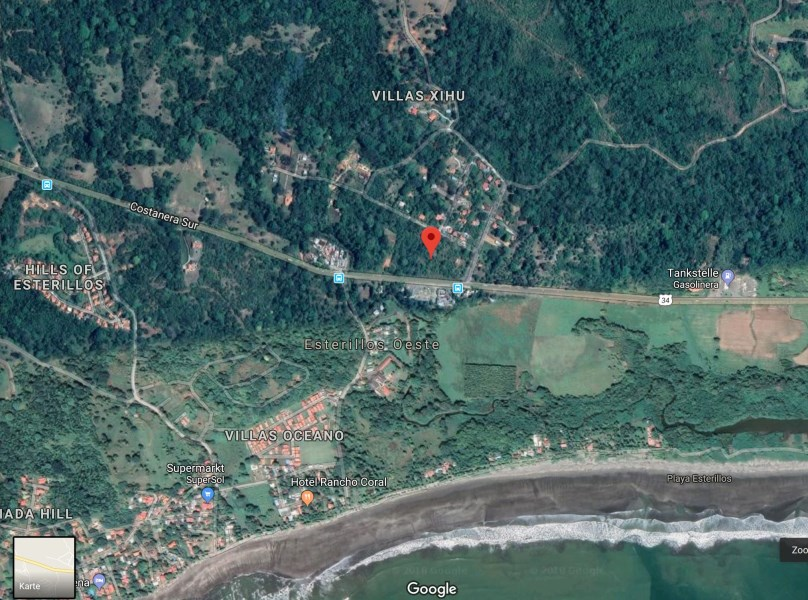 Remax real estate, Costa Rica, Esterillos Este, Large property for sale in Esterillos Oeste with ocean view, 900m from the beach, right next to route 34