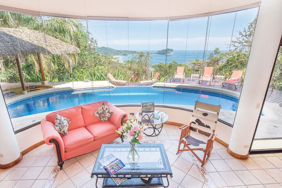 Remax real estate, Costa Rica, Manuel Antonio, Manuel Antonio:  For sale luminous, grand ocean view estate, on the Edge of Paradise!