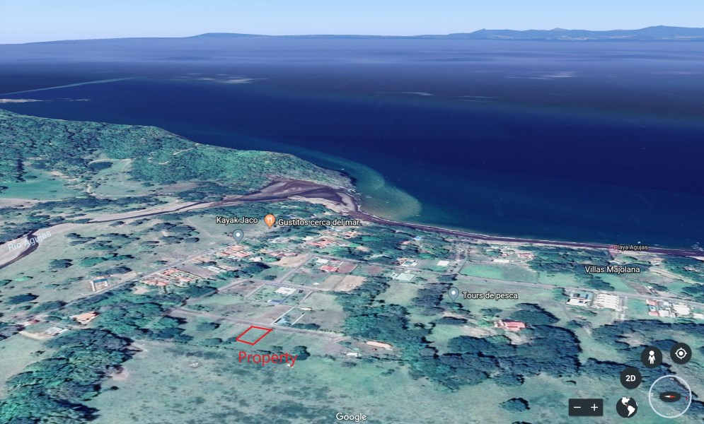 Remax real estate, Costa Rica, Quebrada Ganado, Playa Agujas: Lot for sale, very attractive selling price, your house on the coast only 75km from San José!