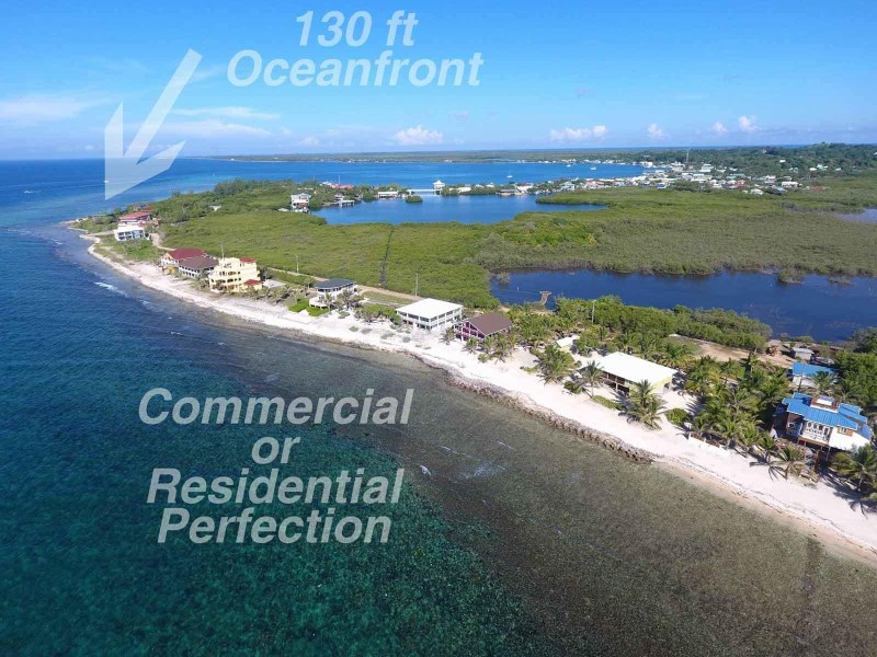 Remax real estate, Honduras, Utila, Super rental or homesite130 ft Oceanfront by road