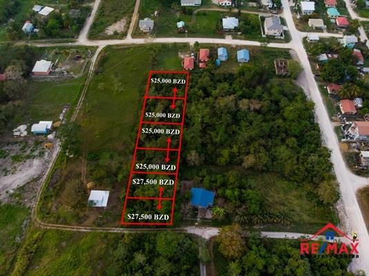 RE/MAX real estate, Belize, San Ignacio, #4047 - Six Residential Lots in Quiet Neighbourhood - San Ignacio Town, Cayo District, Belize