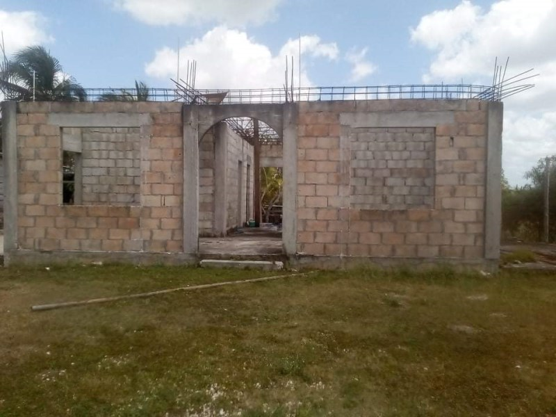 Remax real estate, Belize, San Victor, Lot with Building Foundation in San Victor Village