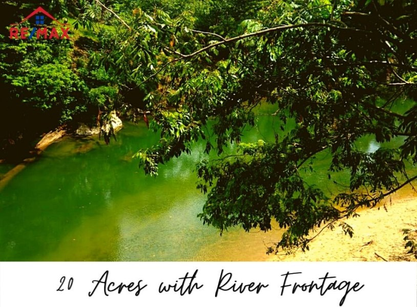 RE/MAX real estate, Belize, Gracy Rock Bank, #1510 - 20 Acres with Sibun River Frontage near Gracie Rock Village