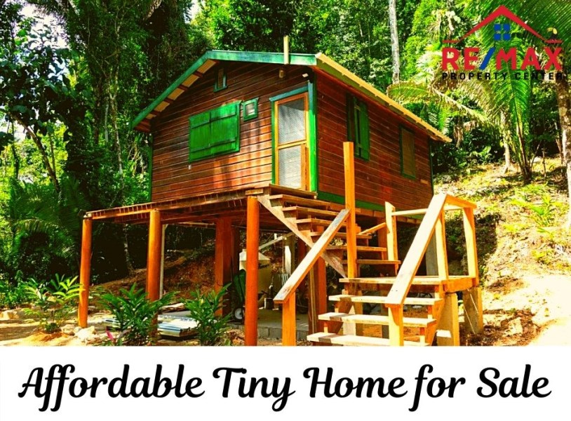 RE/MAX real estate, Belize, Benque Viejo, #7054 - Affordable Tiny Home for Sale in Belize Rainforest Community