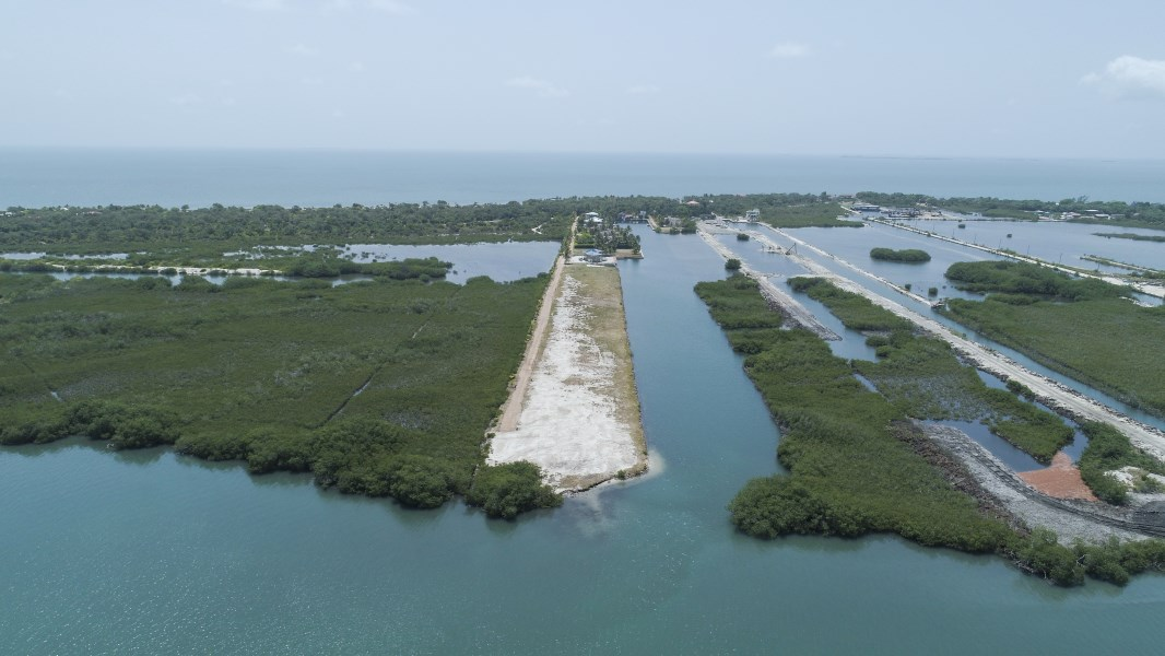 RE/MAX real estate, Belize, Placencia, Stunning Double, Lagoon Front lot in highly sought after, Gated Marina Community.