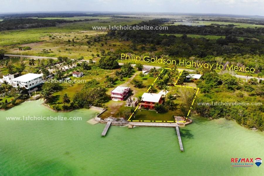 RE/MAX real estate, Belize, Corozal Town, MANATEE SHALLOWS RETREAT - SEA FRONT HOUSE - FOUR MILE LAGOON, COROZAL